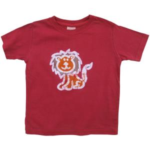 ORGANIC SHORT SLEEVE T-SHIRT-LION-RED (IS)