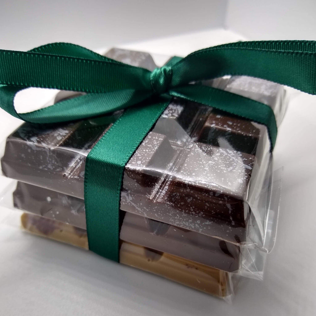 m2 confections gift set chocolate candy bars with ribbon