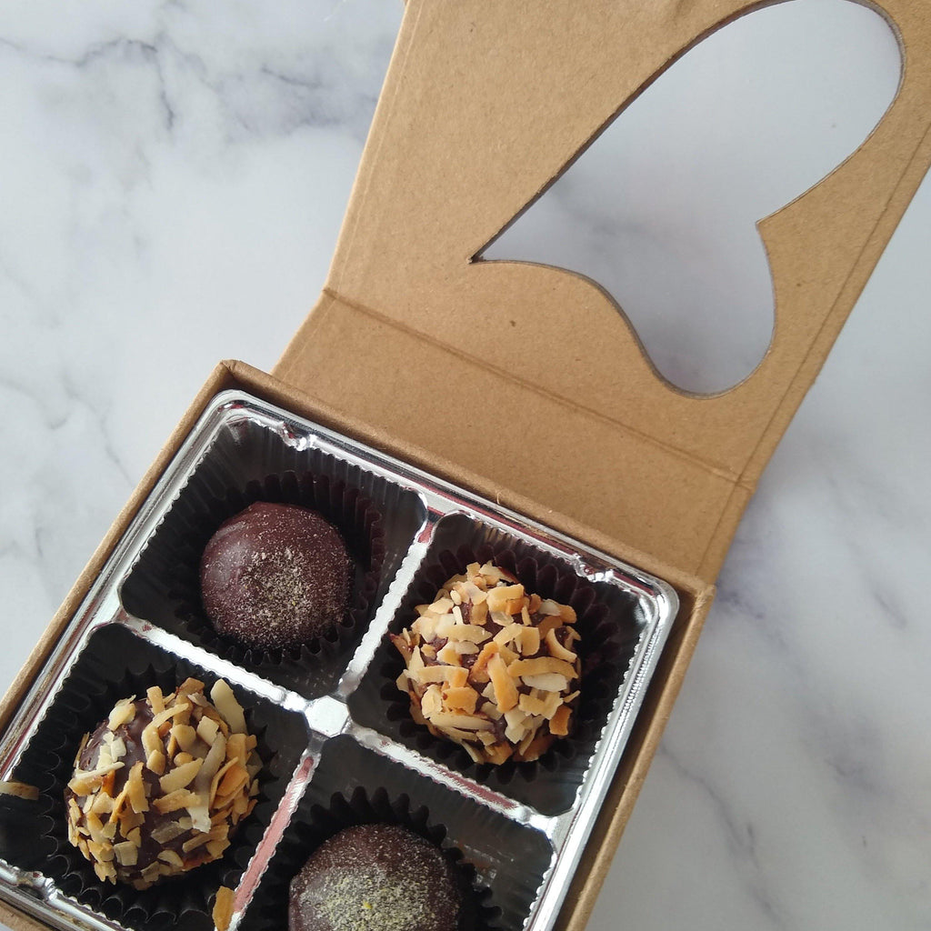 Coconut Milk Dark Chocolate Truffles - m2 Confections
