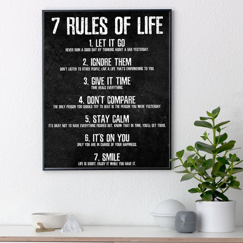 7 Rules of Life - Motivational Poster