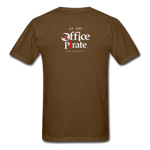 Men's Official 1955 Office Pirate T-Shirt - brown