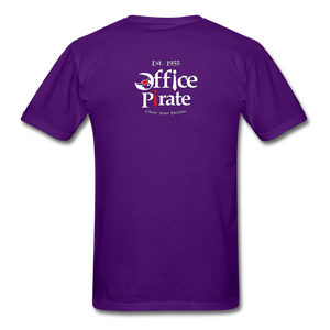 Men's Official 1955 Office Pirate T-Shirt - purple