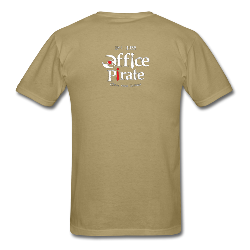 Men's Official 1955 Office Pirate T-Shirt - khaki