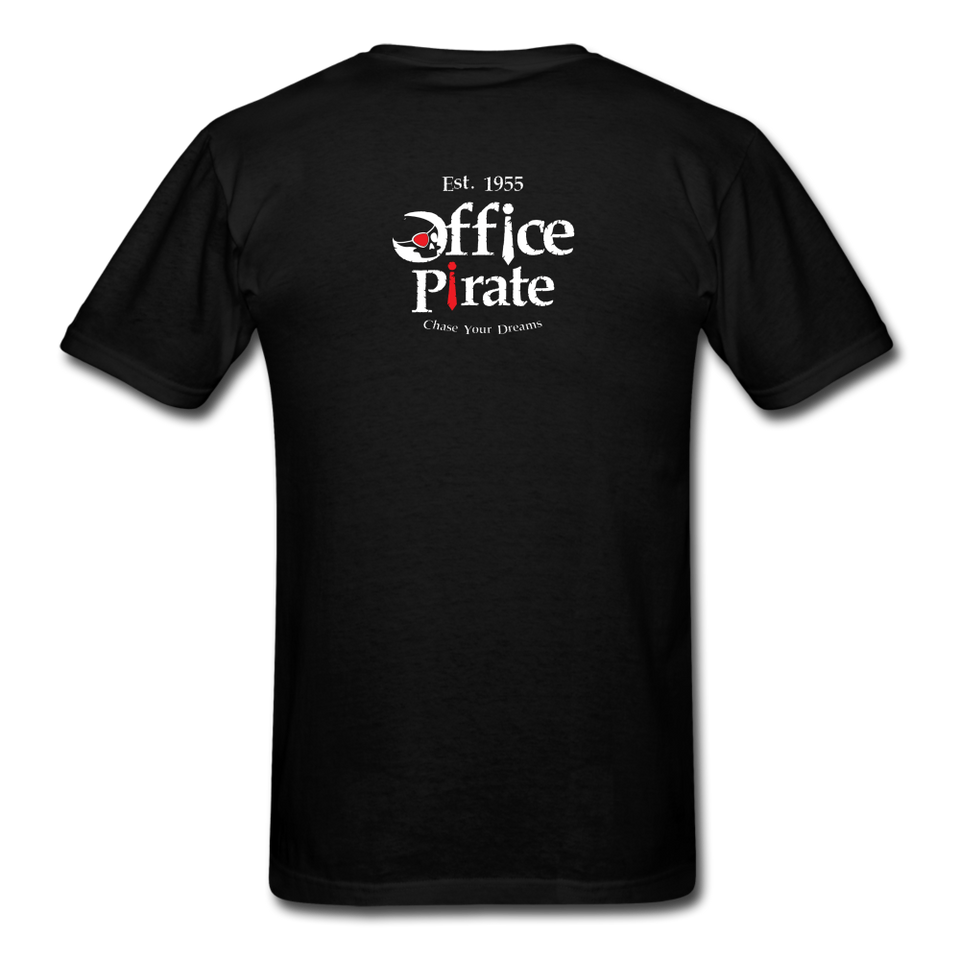 Men's Official 1955 Office Pirate T-Shirt - black