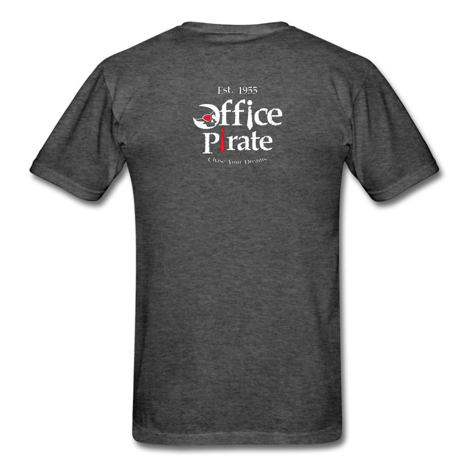 Men's Official 1955 Office Pirate T-Shirt - heather black