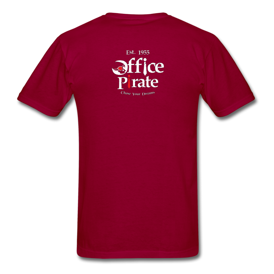Men's Official 1955 Office Pirate T-Shirt - dark red