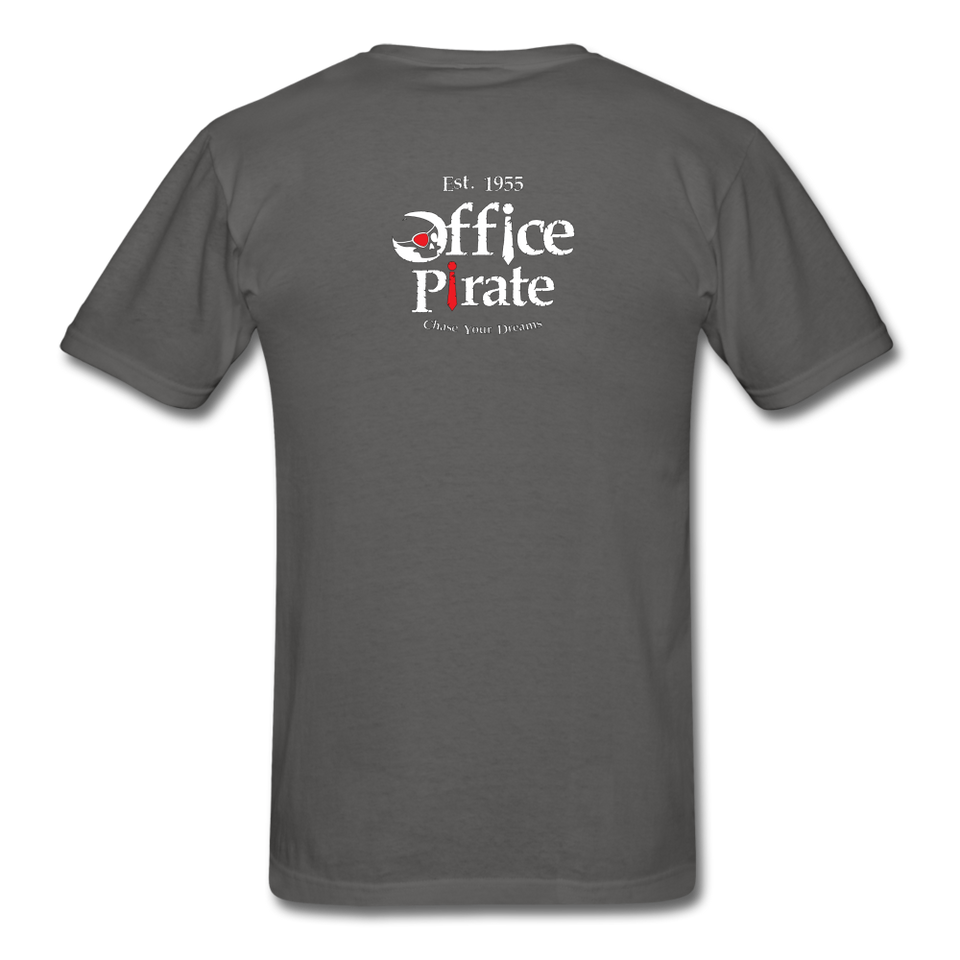 Men's Official 1955 Office Pirate T-Shirt - charcoal