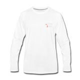 Men's Premium Office Pirate Long Sleeve T-Shirt - white