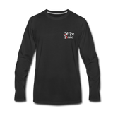 Men's Premium Office Pirate Long Sleeve T-Shirt - black