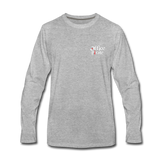 Men's Premium Office Pirate Long Sleeve T-Shirt - heather gray