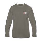 Men's Premium Office Pirate Long Sleeve T-Shirt - asphalt gray