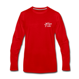 Men's Premium Office Pirate Long Sleeve T-Shirt - red