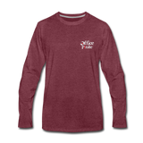 Men's Premium Office Pirate Long Sleeve T-Shirt - heather burgundy