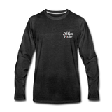 Men's Premium Office Pirate Long Sleeve T-Shirt - charcoal gray