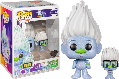 Trolls World Tour Funko POP! Guy Diamond with Tiny #882