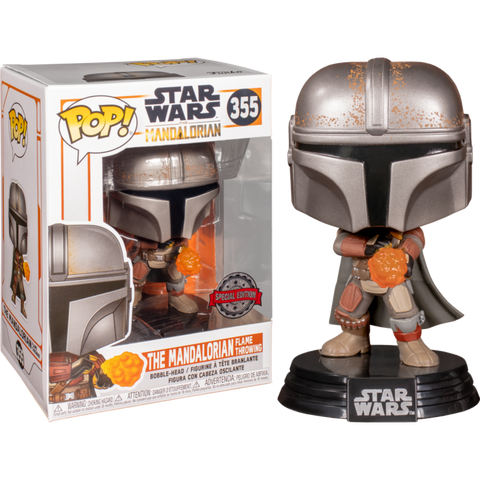 Star Wars The Mandalorian Funko POP ! The Mandalorian Flame Throwing #355
