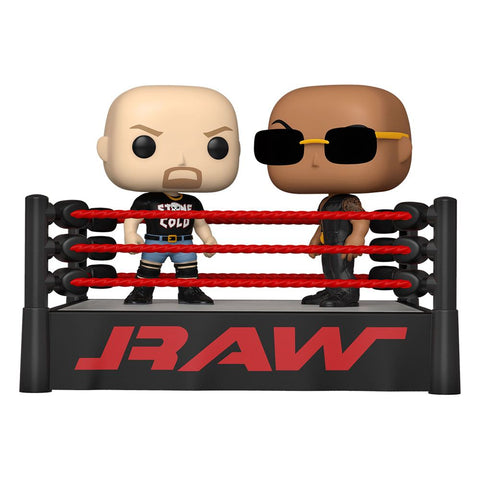 WWE Funko POP! Moment The Rock vs Stone Cold in Wrestling Ring
