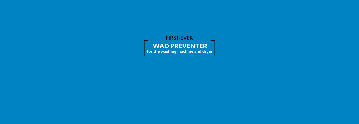 First-Ever Wad Preventer for the Washing Machine and Dryer. The Wad-Free is a thin 4