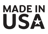 Made in USA graphic with a white star in the center of the A in USA