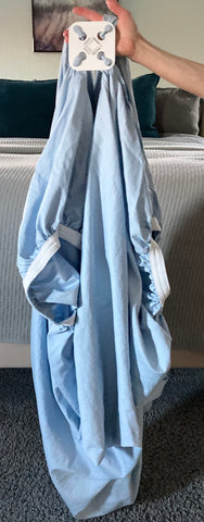 Fitted sheet attached at the points instead of the corners