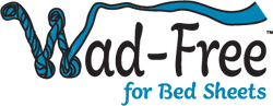 Wad-Free for Bed Sheets logo. The