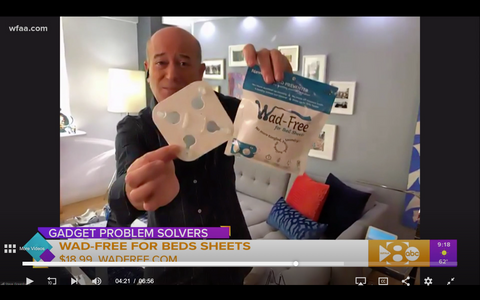 Good Morning Dallas WFAA 5 Gadgets Problem Solvers Steve Greenberg Wad-Free for Bed Sheets