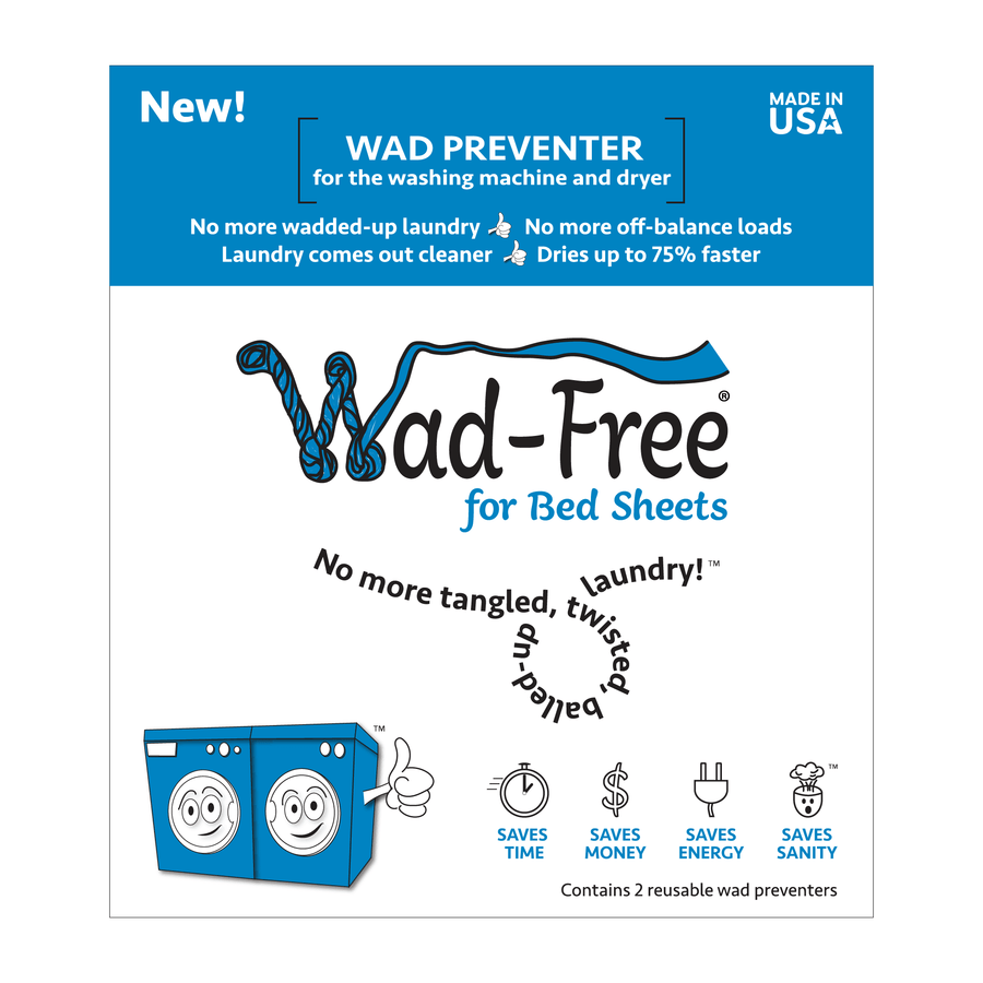 Wad-Free product packaging front