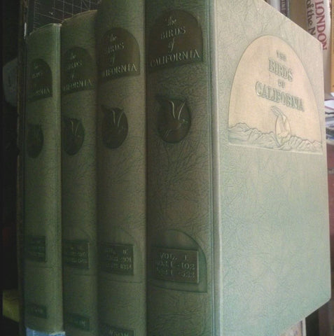Birds of California: Large Paper Edition by William Leon Dawson 4 volume set. 1923
