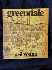 Greendale by Neil Young. Illustrated by James Mazzeo inscribed with sketch by Mazzeo