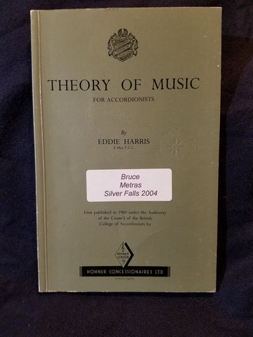 Theory of Music for Accordionists by Eddie Harris