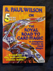 Royal Road To Card Magic by R. Paul Wilson. 5 disc DVD set.