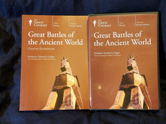 Great Battles of the Ancient World by Garrett G. Fagan. Great Courses,  24 lectures on 4 dvd's
