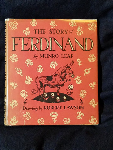 Story of Ferdinand by Munro Leaf.  Second printing with second printing dust jacket.