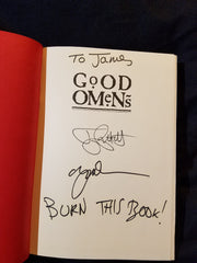 Good Omens: The Nice and Accurate Prophecies of Agnes Nutter, Witch by Neil Gaiman and Terry Pratchett. SIGNED BY GAIMAN AND PRATCHETT