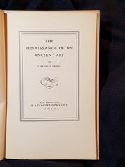 The Renaissance of an Ancient Art by L. Stanley Grohs presented to Edward Everett Horton