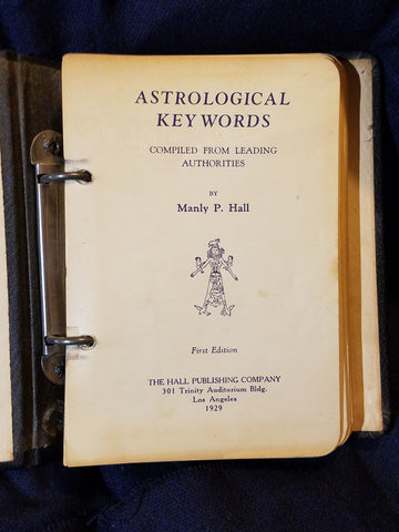 "Astrological Key Words by Manly P. Hall. ""First Edition"" stated"