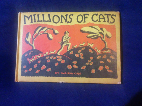 Millions of Cats written and illustrated by Wanda Gag. First issue.