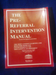 Pre-Referral Intervention Manual, Revised and Updated Second Edition