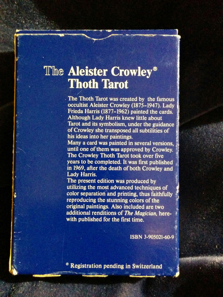 Aleister Crowley Thoth Tarot  AGMuller  Switzerland