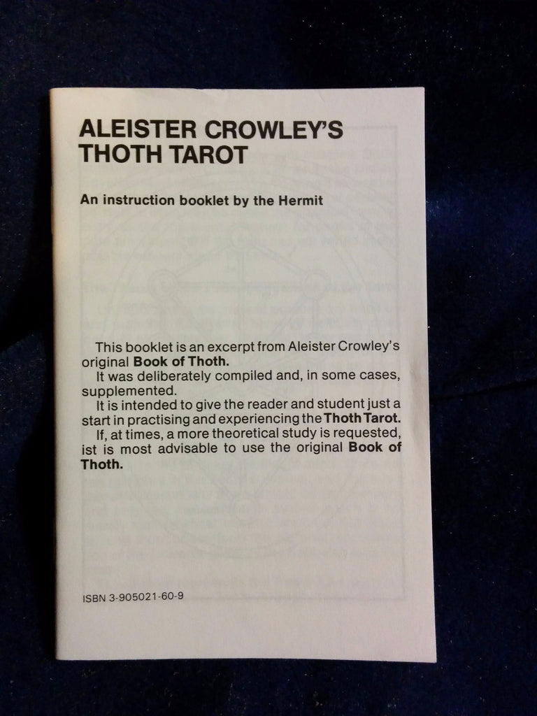 Aleister Crowley Thoth Tarot  AGMuller  Switzerland  – formerly