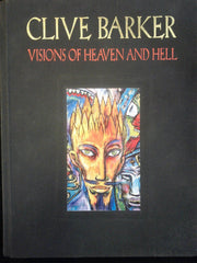 Visions of Heaven and Hell by Clive Barker inscribed with a hand-written sketch