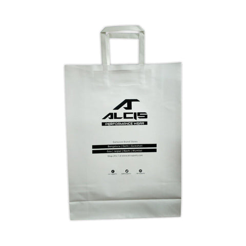 White Kraft - 12 x 16 x 4 - Customised - yessirbags.in