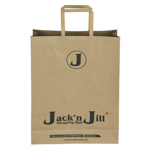 Jack n Jill Big - Brown Paper Bag - 12 x 16 x 4