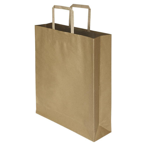 Brown - 12 x 16 x 4 - Plain - yessirbags.in