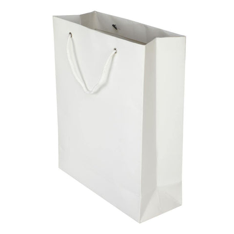 Elements - White - Plain - 10 x 12 x 4 - yessirbags.in