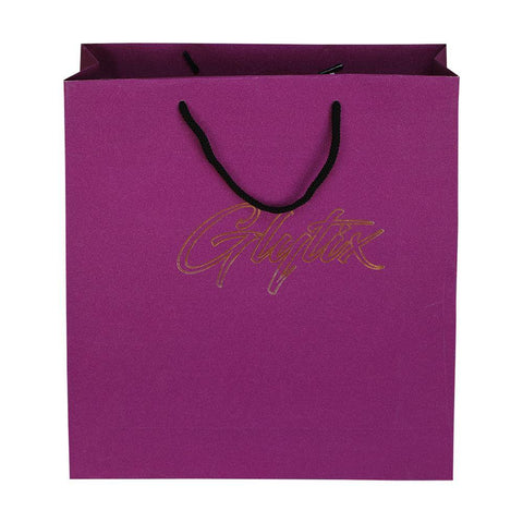 Glitter Laminated - Purple + Gold Leaf - yessirbags.in