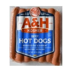A&H Reduced Fat and Sodium Beef Franks | Deli Meats | Kosherkart