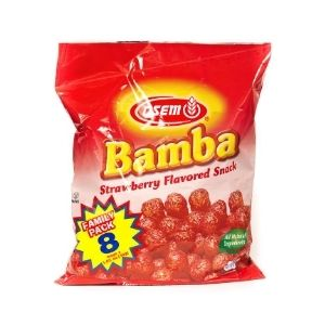 Bamba Strawberry Multipack - 8 Pack | Chips & Snacks | Kosherkart