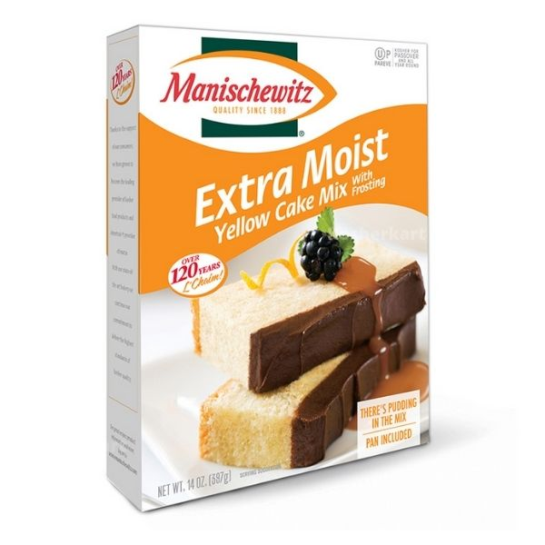 Manischewitz Extra Moist Yellow Cake Mix With Frosting