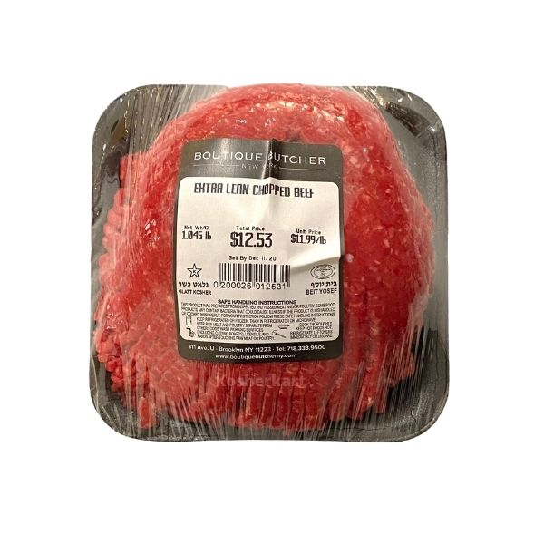 Extra Lean Ground Beef $11.99/lb (1 lb - 1.3 lbs)